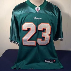 Reebok Miami Dolphins 23 Brown Jersey size 52